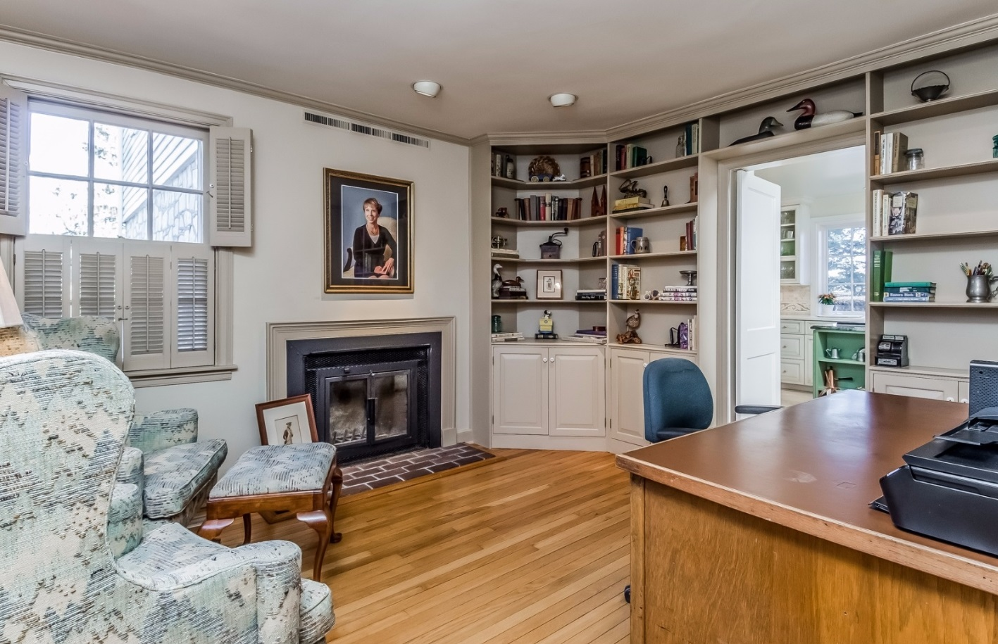 Classic Bucks County Library Office Steve Walny REALTOR