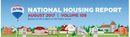 RE/MAX National Housing Report: August 2017