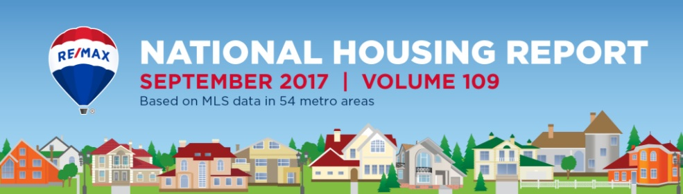 RE/MAX National Housing Report September 2017