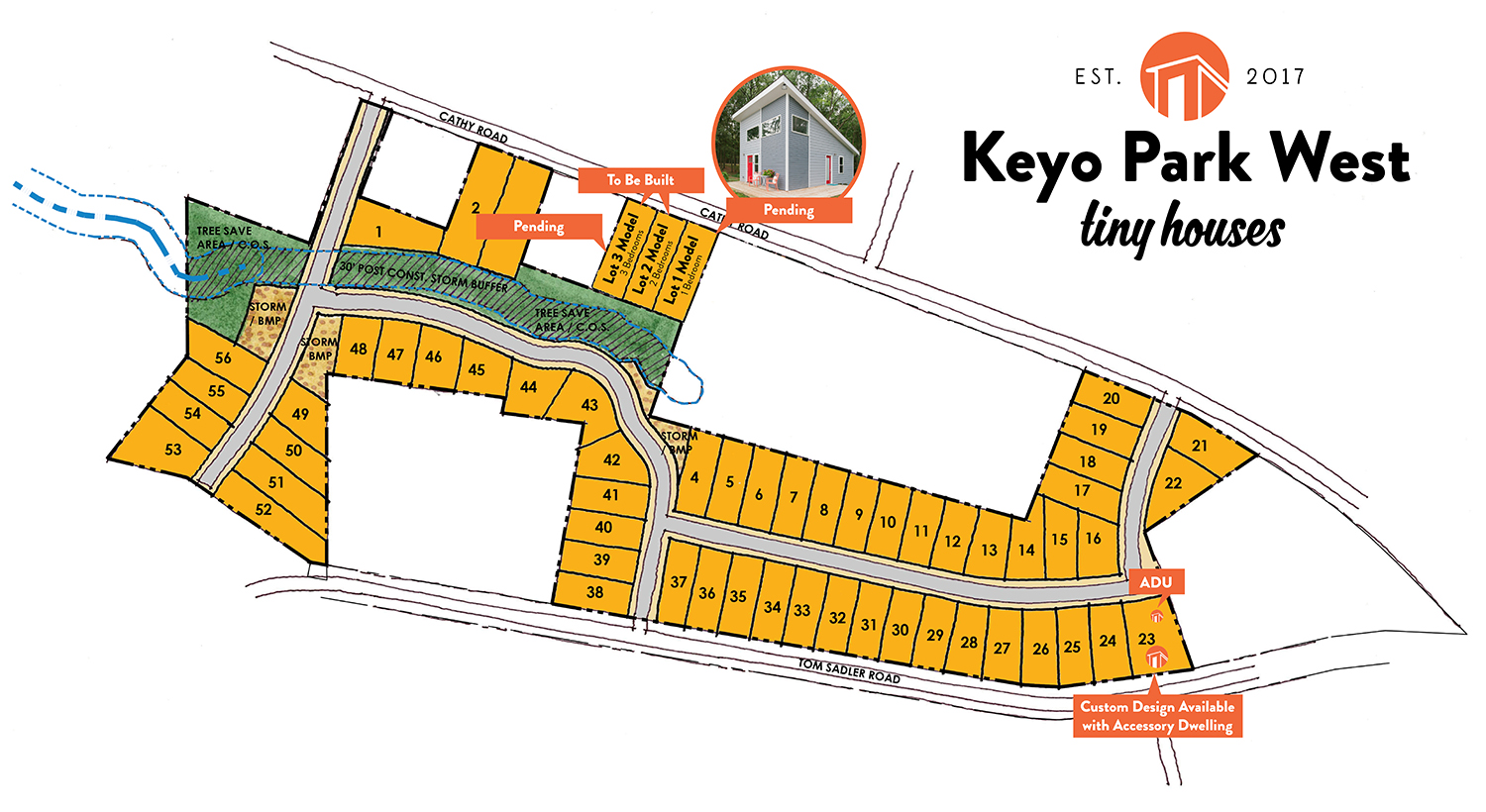 Site Map For Key Park West--Charlotte's First Tiny House Community