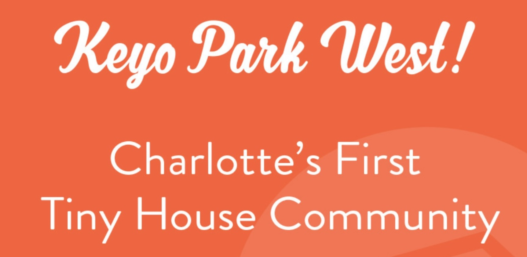 Charlotte's First Tiny House Community: Key Park West