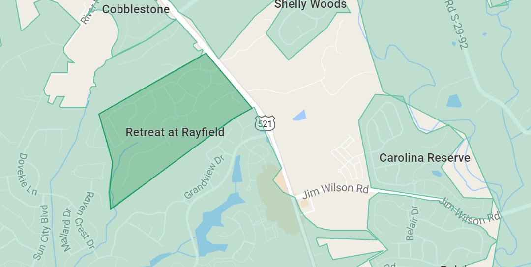 Retreat at Rayfield Map in Indian Land, SC