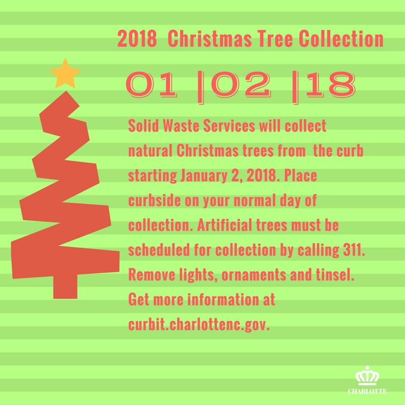 Christmas Tree Collection Schedule For Charlotte and Mecklenburg County, NC