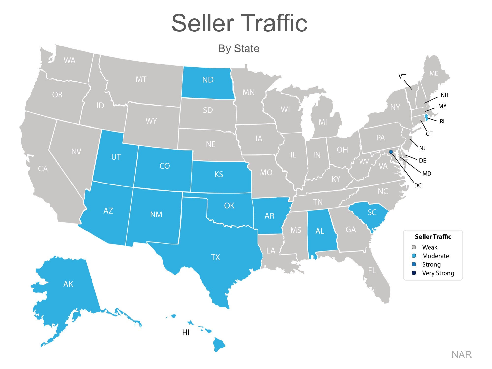 Home Seller Traffic By State