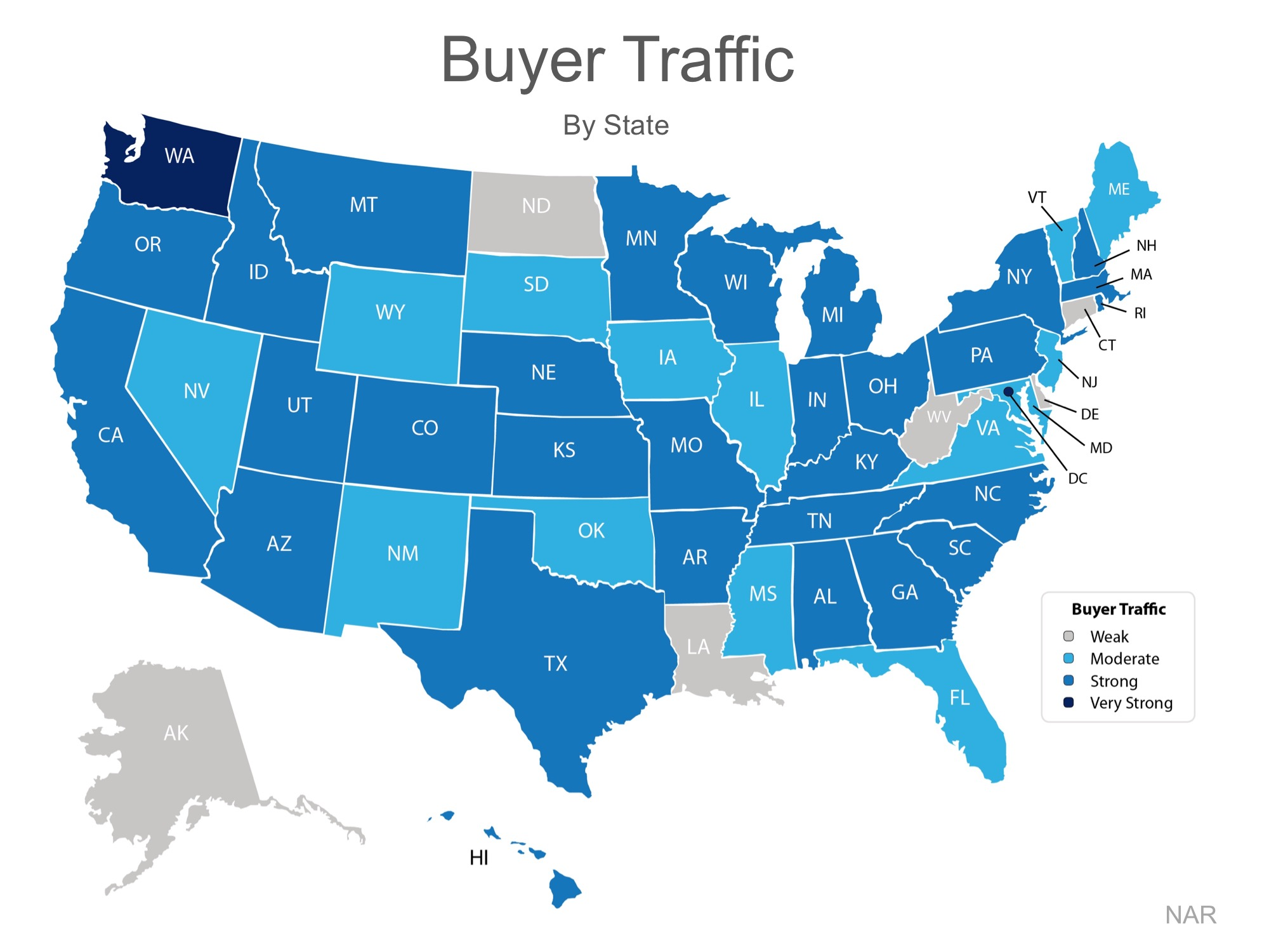 Home Buyer Traffic By State