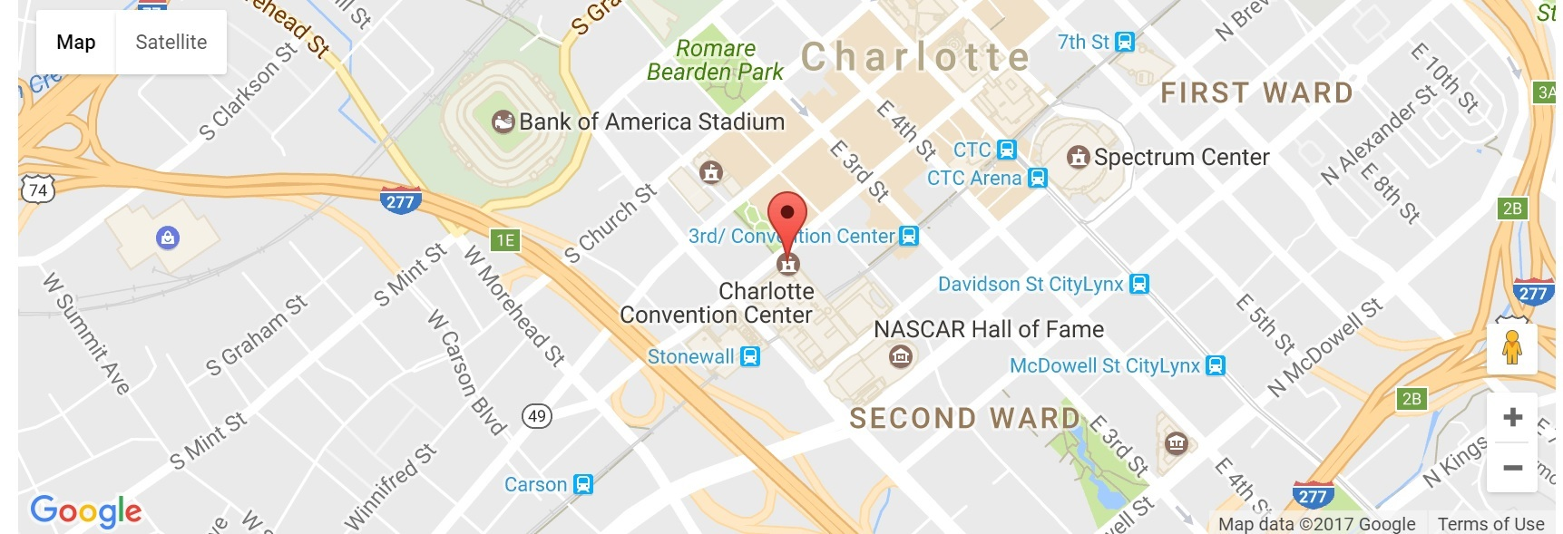 Driving Directions to the Charlotte Convention Center