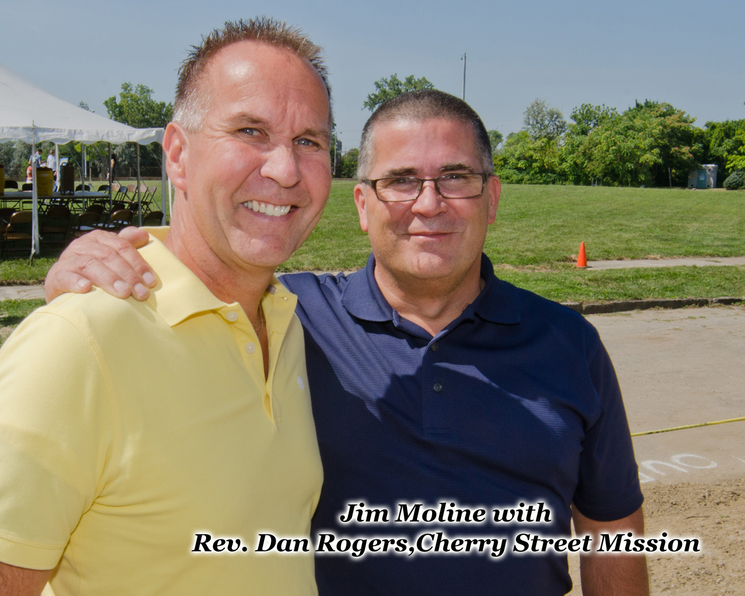 Jim Moline and Reverend Dan Rogers