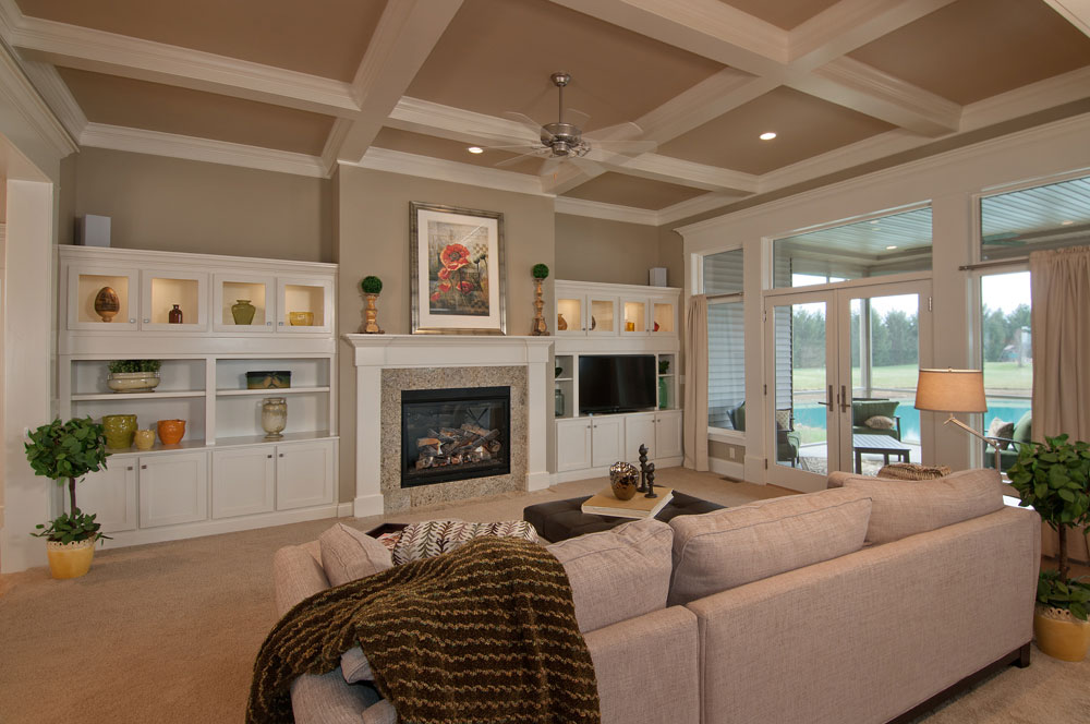 Coffered Living Room