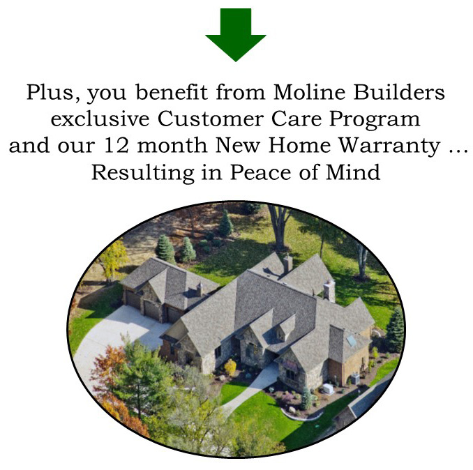 12 Month New Home Warranty Through Moline Builders