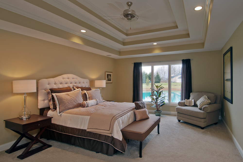 A decorative ceiling gives a room personality, makes the room feel more spacious
