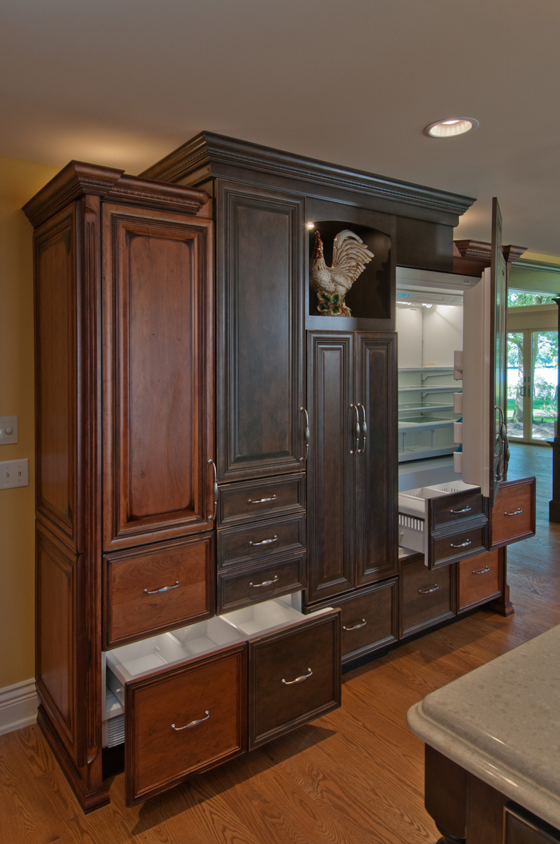 Concealed Appliances with Cabinetry