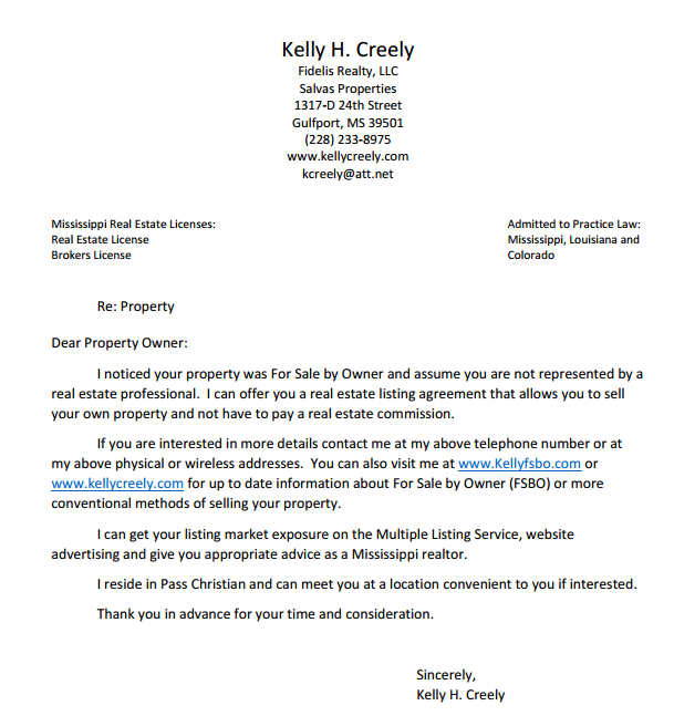 Kelly Creely Fsbo Letter Gulfport Homes For Sale Property Search