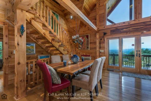 Homes in Yellowtop Mountain Estates NC - This Saratoga Drive home for sale offers amazing views wherever you look.