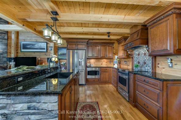 Saratoga Drive Bostic NC Homes for Sale - The custom made luxury kitchen of this Yellowtop Mountain home is designed to impress.