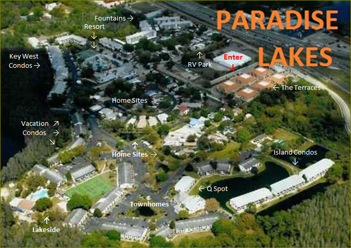 paradise lakes florida map