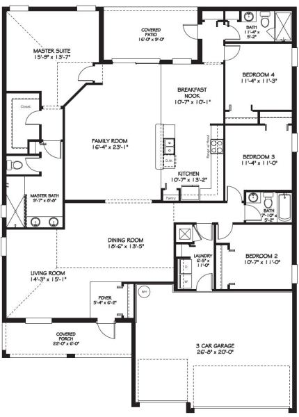 Championsgate the country club sand dollar floor plan for 4 bedroom house plans with front porch