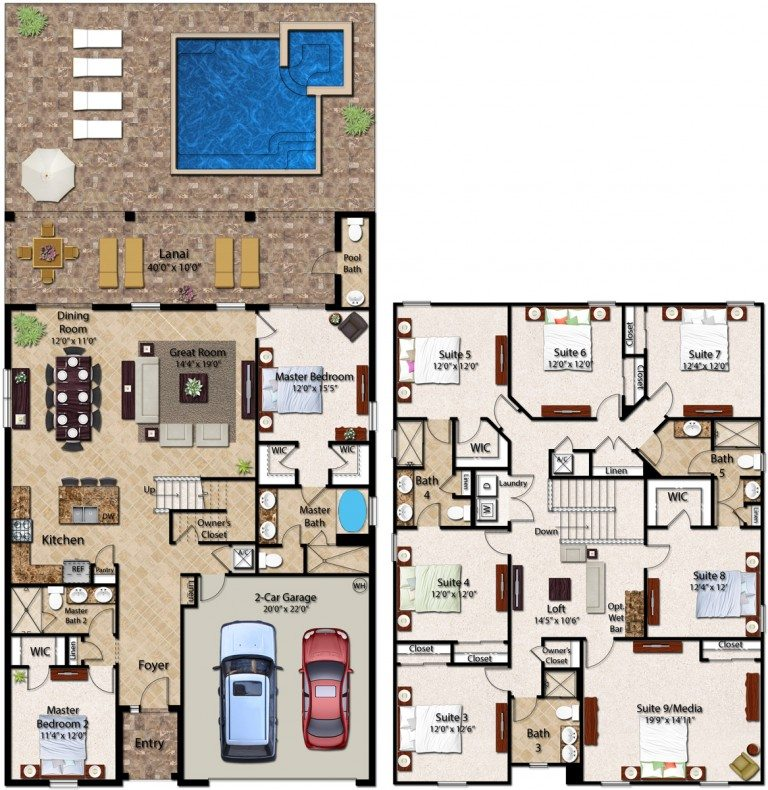 Encore Club At Reunion Lancaster Floor Plan New