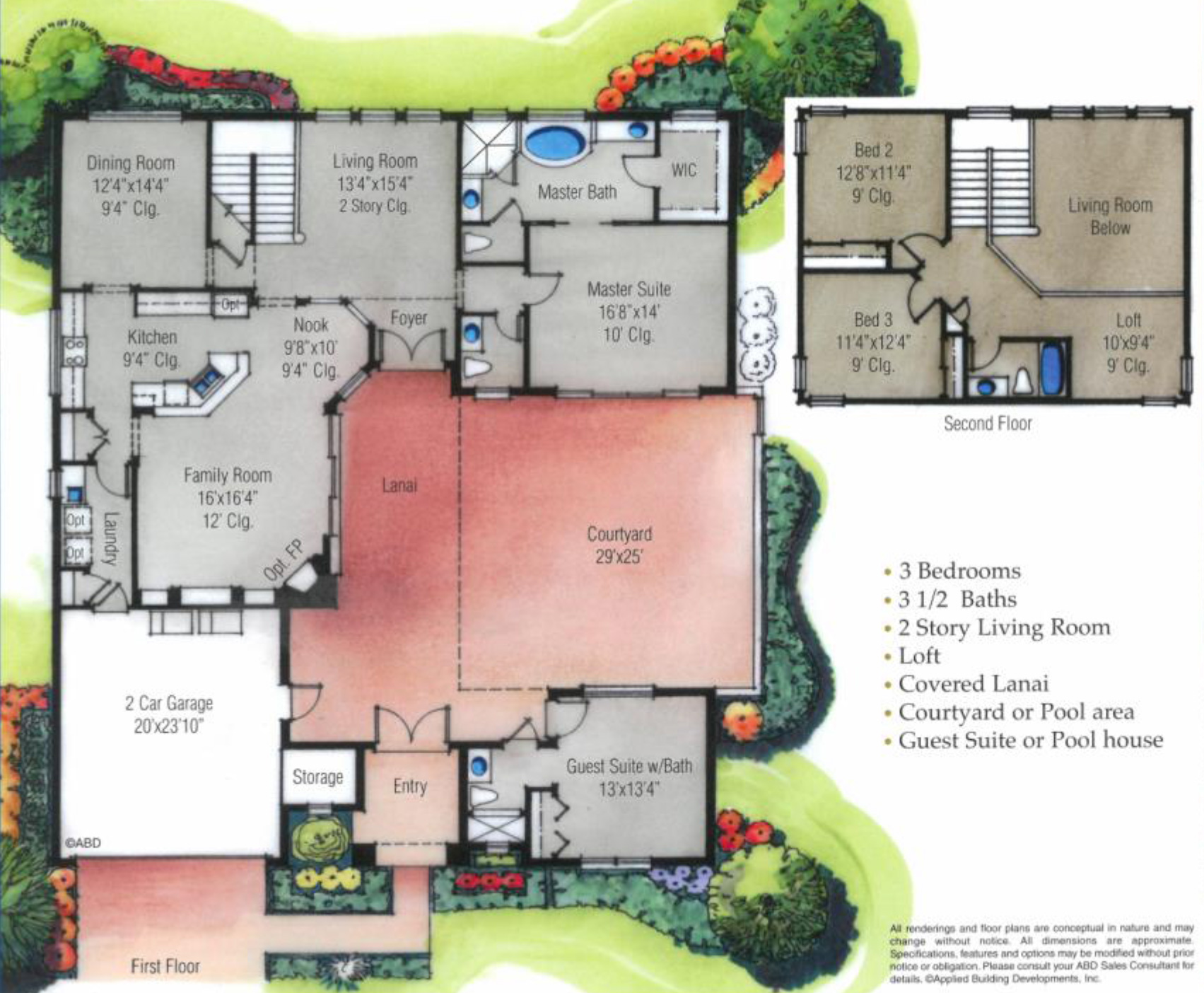Heritage Green at Providence, Courtyard II Floor Plan - New ...