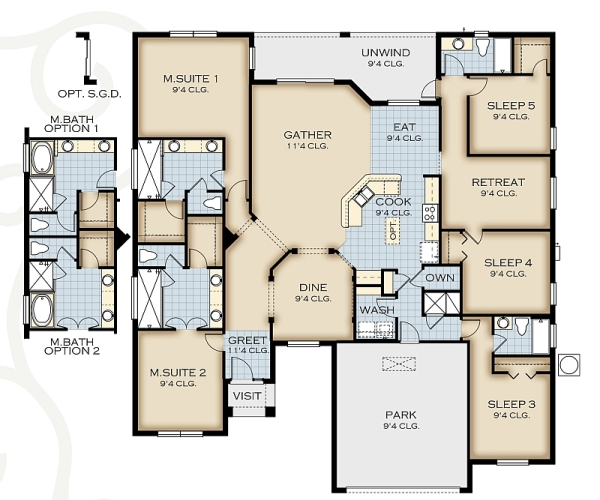 Solterra Resort Park Square - Crestview Floor Plan - New ... on square building floor plan, square art, square house, square bathrooms, house plans, square home design, square construction, square cabin homes,