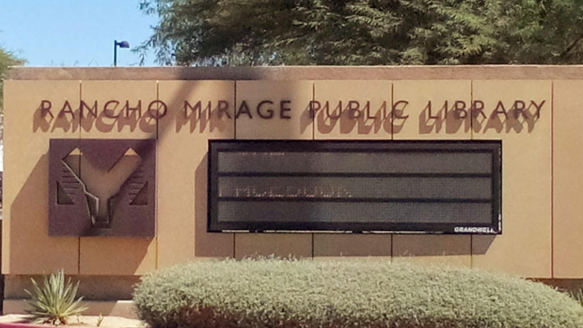 Rancho Mirage CA Library Sign