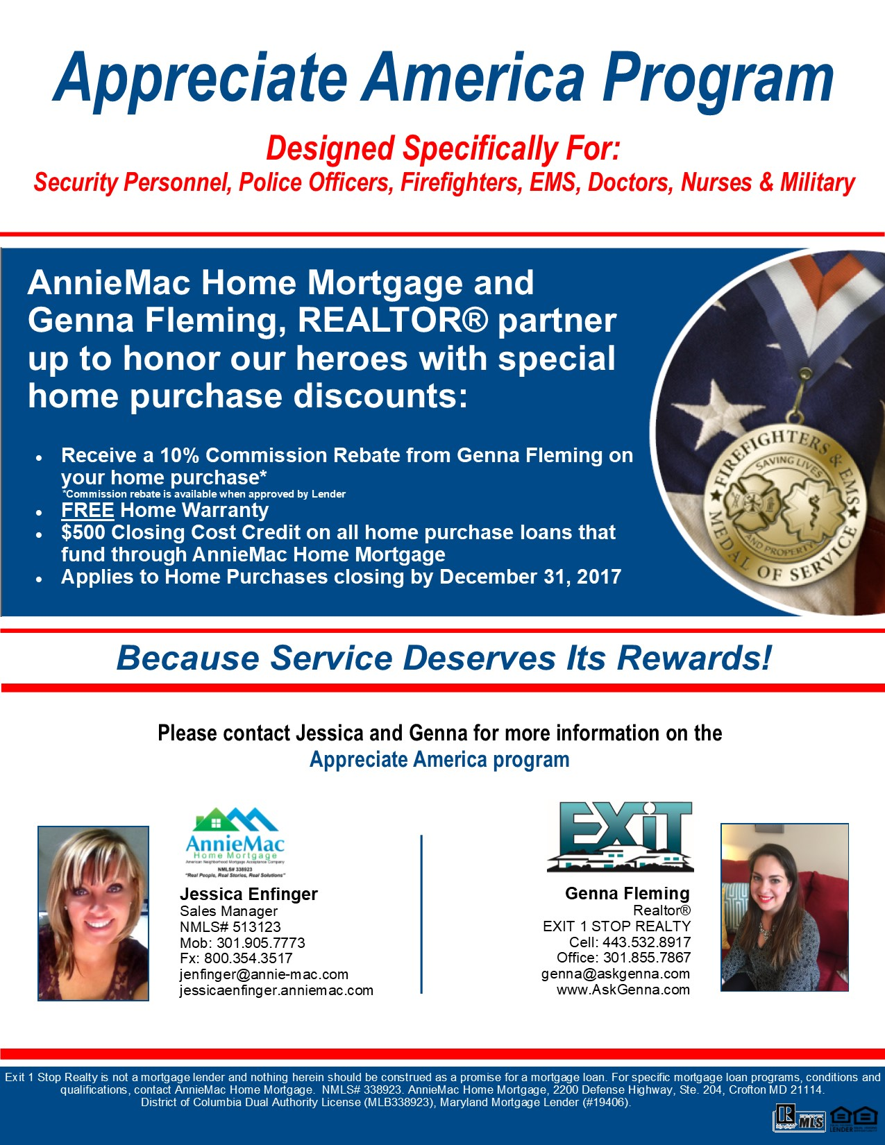 Appreciate America Program from Genna Fleming, Realtor