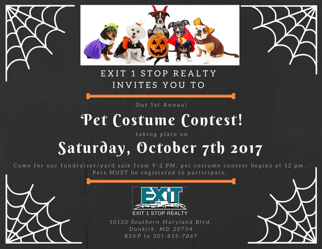 Pet Costume Contest hosted by Exit 1 Stop Realty