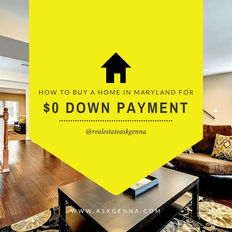 How to buy a home in Maryland for $0 down!