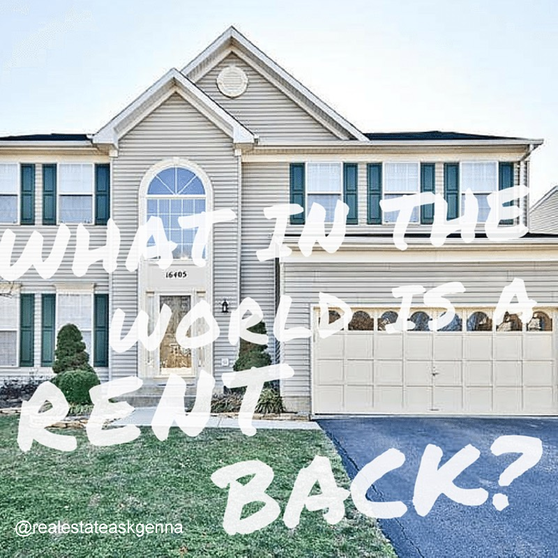 What in the world is a rent back? AskGenna