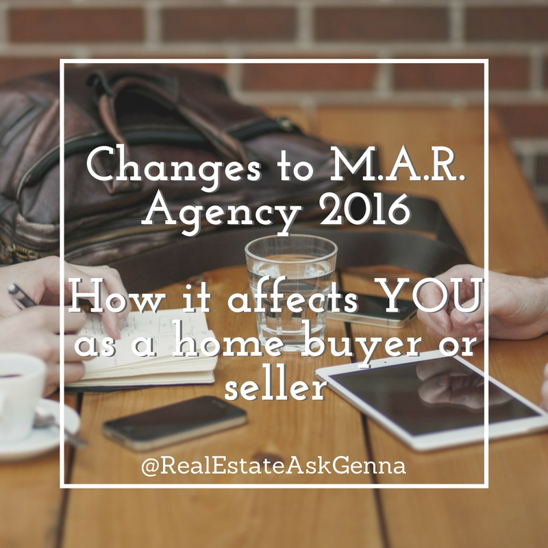 Changes to MAR Agency 2016 - How it affects YOU