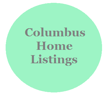 A circle linked to Columbus homes for sale page