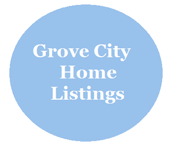A circle linked  to Grove City homes for sale page