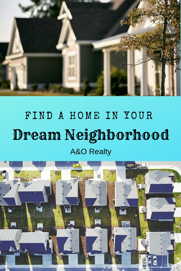 neighborhood images with blog title Find a home in your dream neighborhood