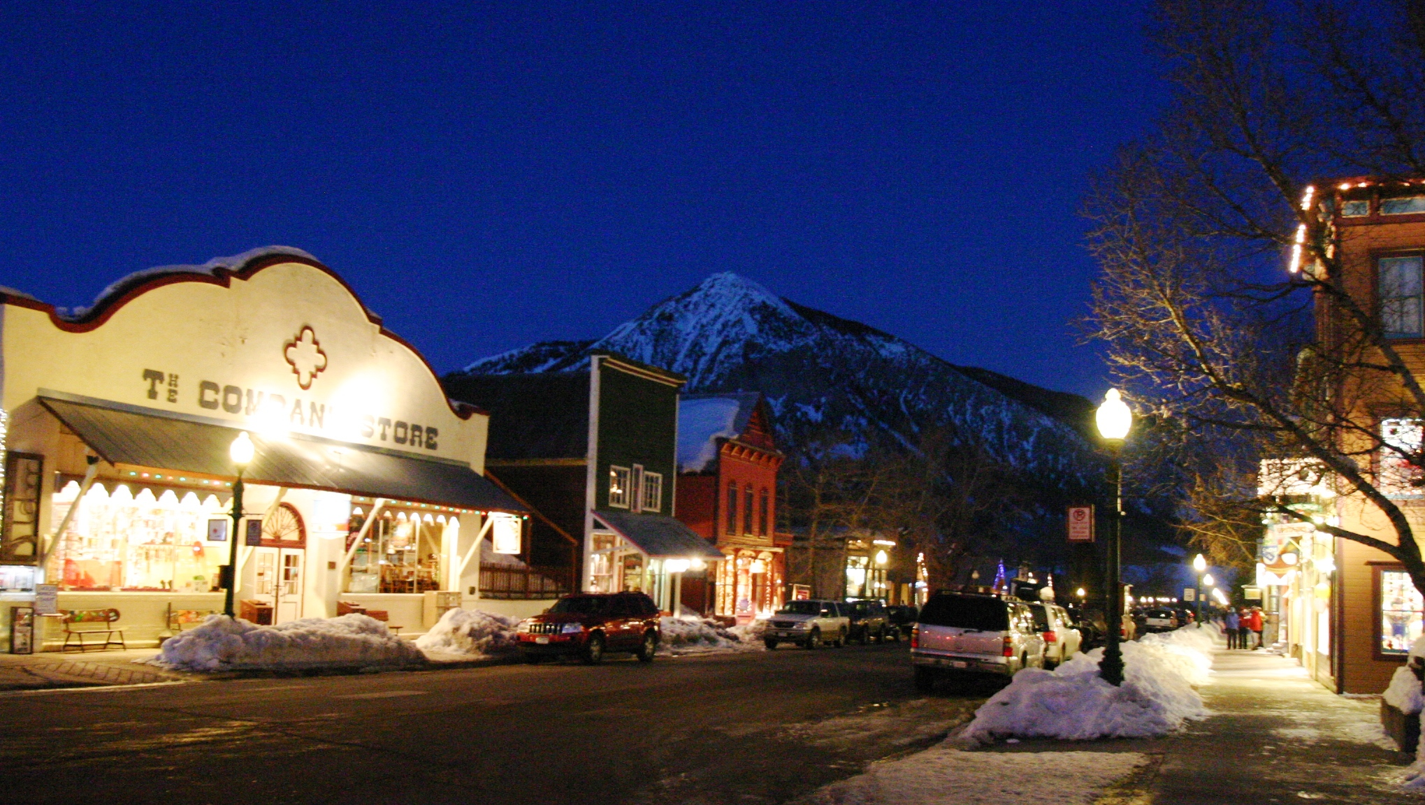 Crested Butte Elk Avenue at Night