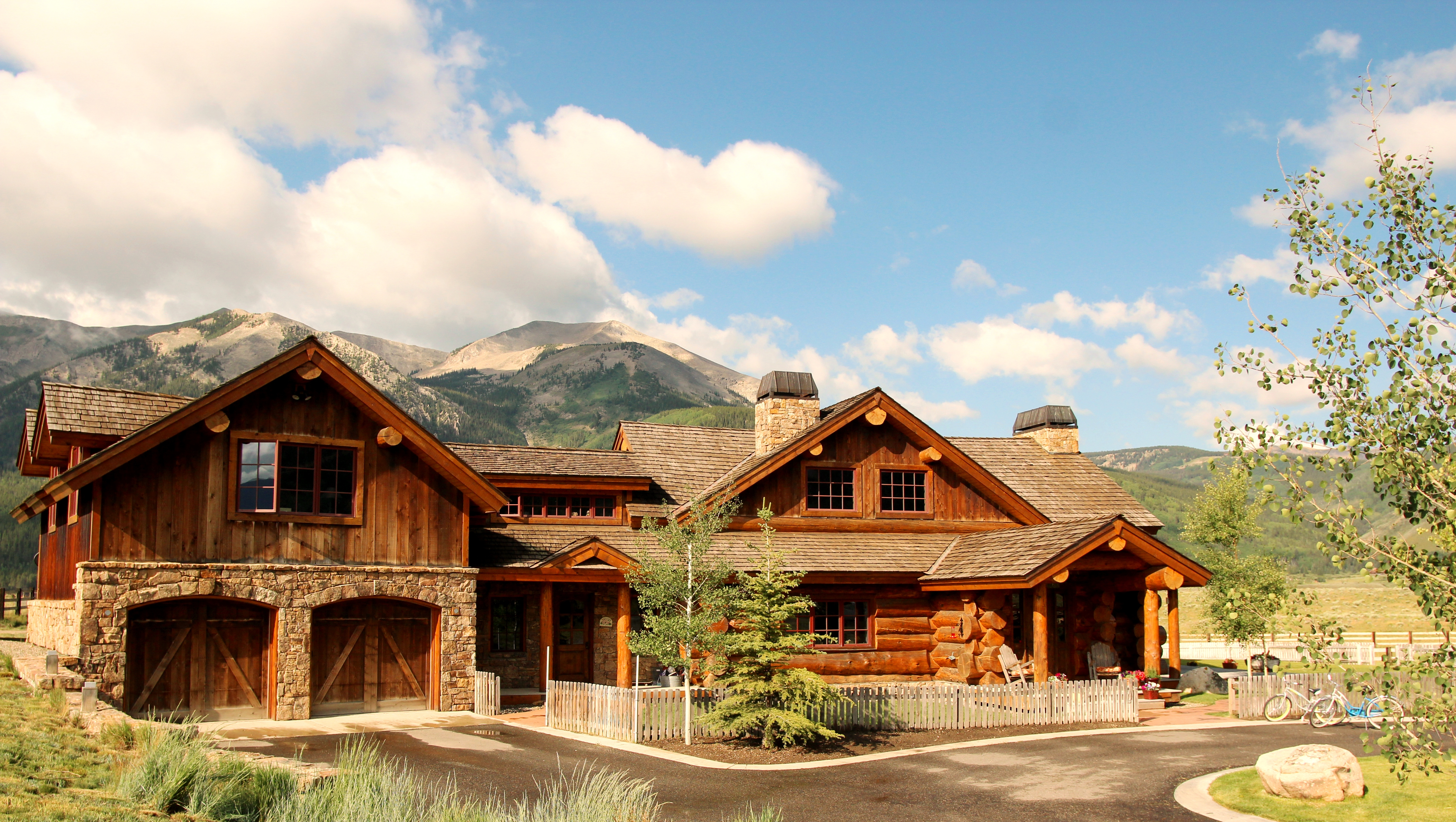 Luxury Log Home Located Just Outside of Crested Butte on 6 + Acres