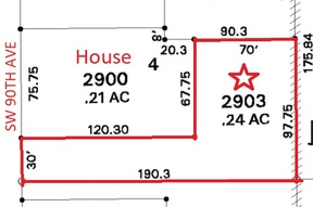Residential Lots & Land For Sale: 10000 SW 90th Ave. Flag Lot
