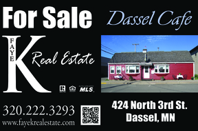 Dassel MN Commercial For Sale: $123,000