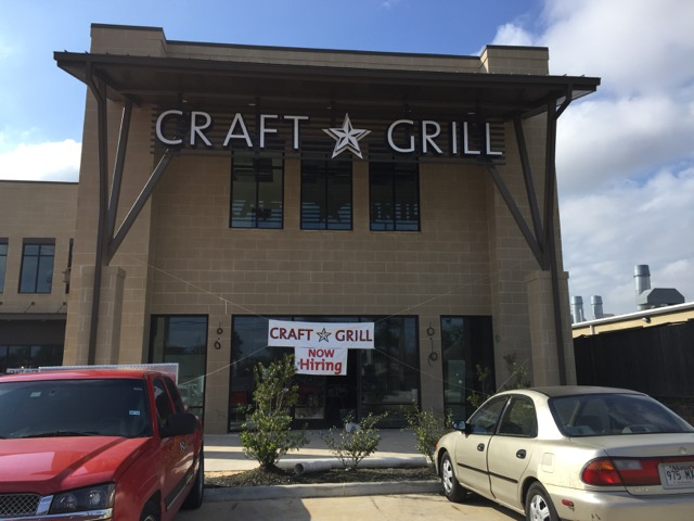 Craft Grill about to open in Spring TX