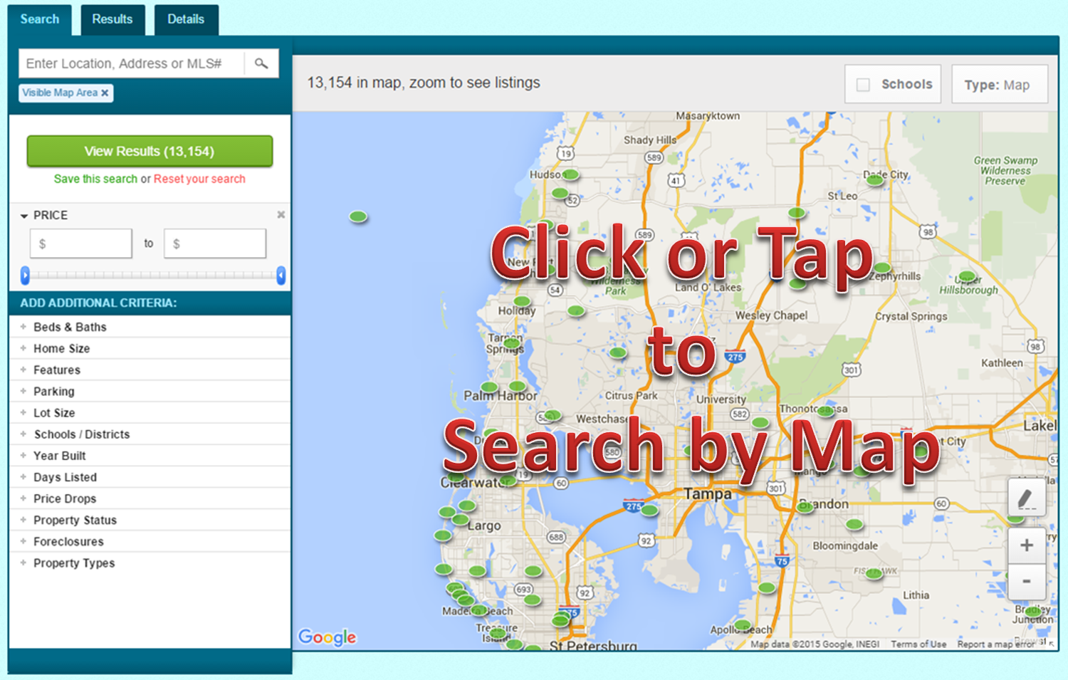 Search the Entire Tampa Area Homes for RENT