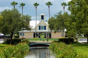 The Celebration Golf Club Clubhouse in Celebration, Florida