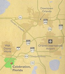 Map of Celebration Florida