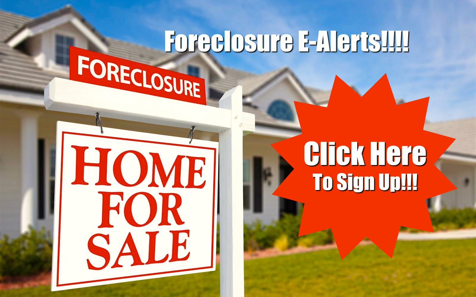 Image result for get foreclosure alerts button