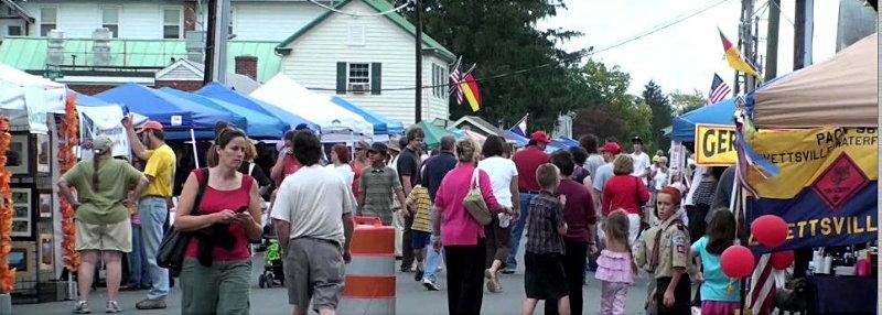 The Streets of Lovettsville during the Lovettsville Oktoberfest by John Westerman