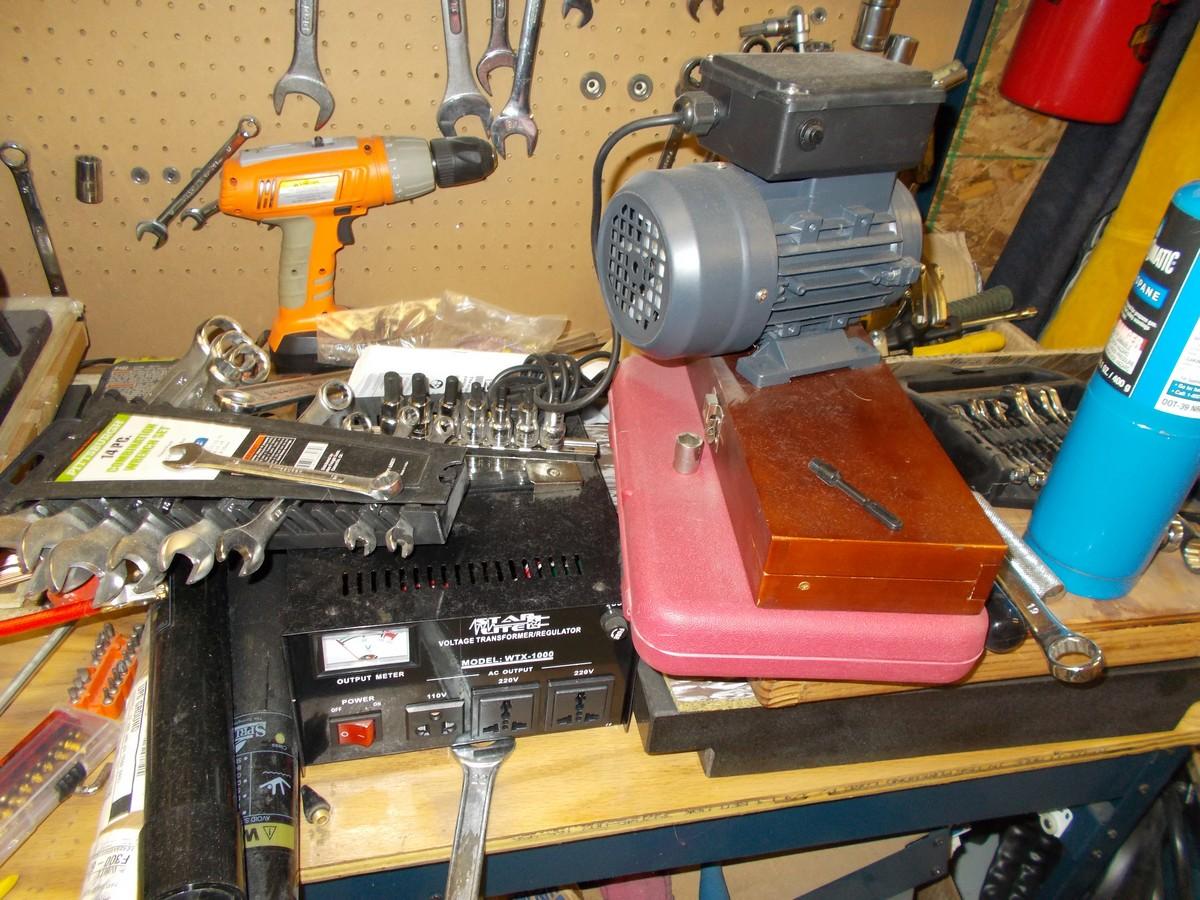tools, drills, grinders