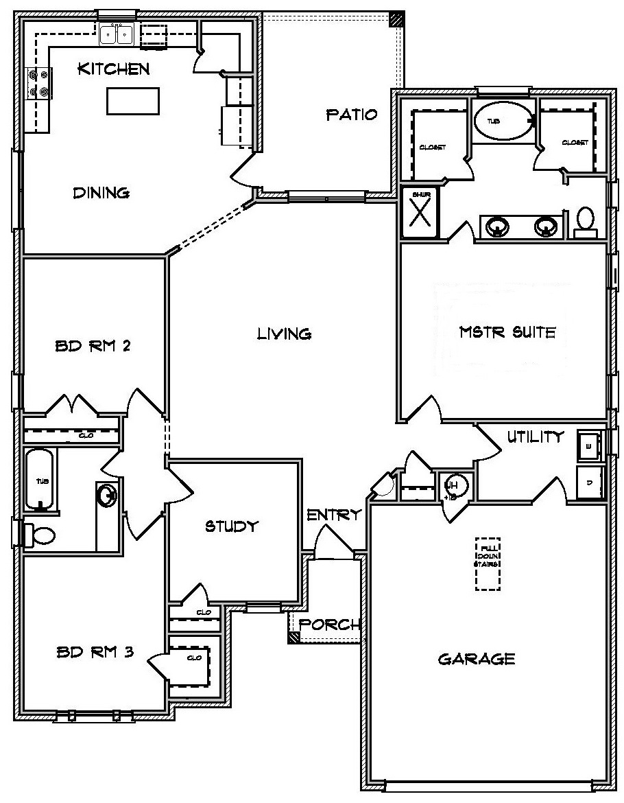 Jerry Wright Homes Prairie Plan in Temple TX
