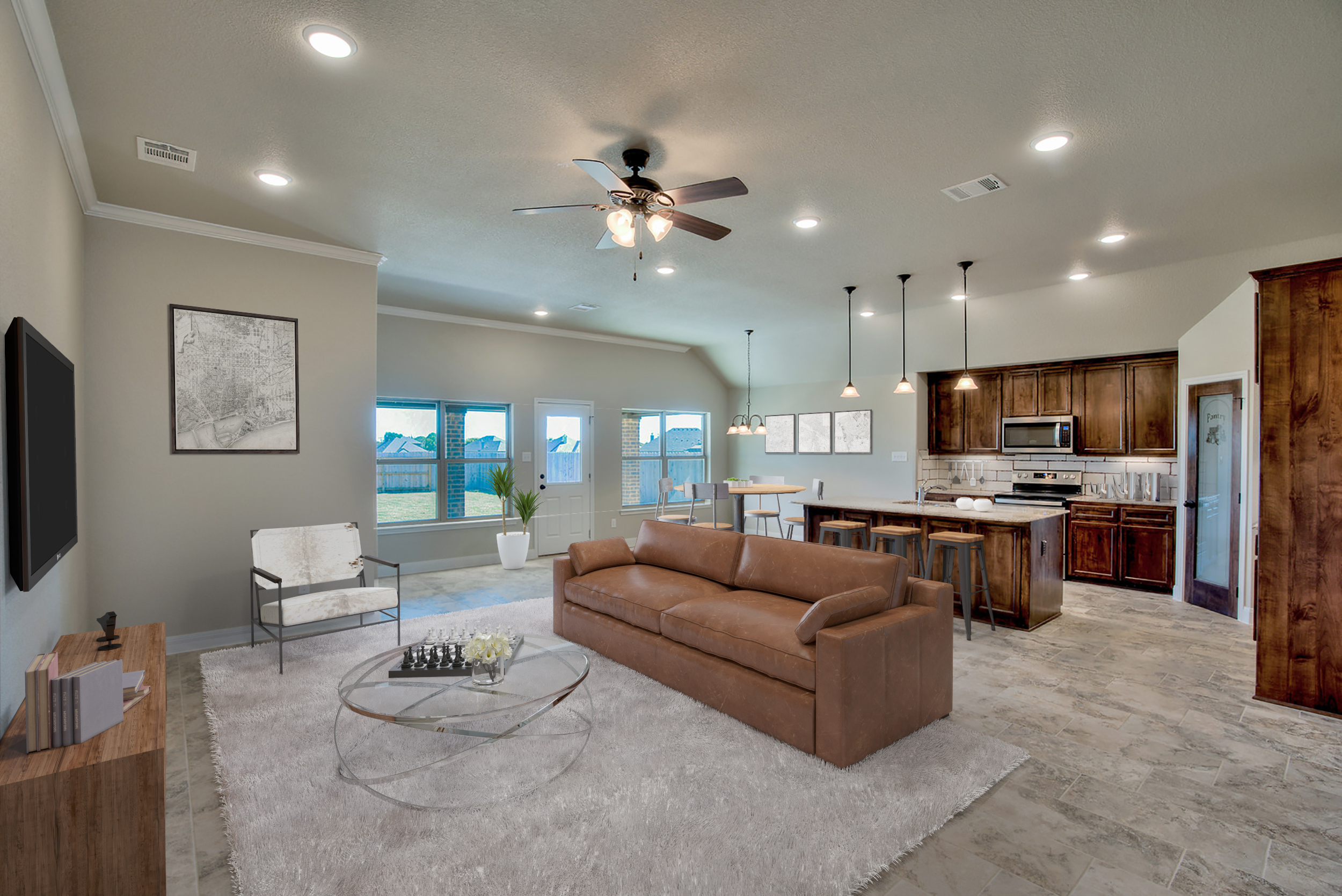 Jerry Wright Homes Open Floorplan