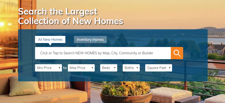 Search North & West of Tampa NEW HOMES ONLY for Sale