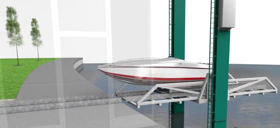 Gulf Star Marina robotic boat retrieval graphic