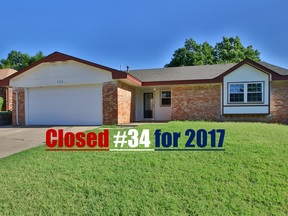 Yukon OK Single Family Home Sold: $140,000
