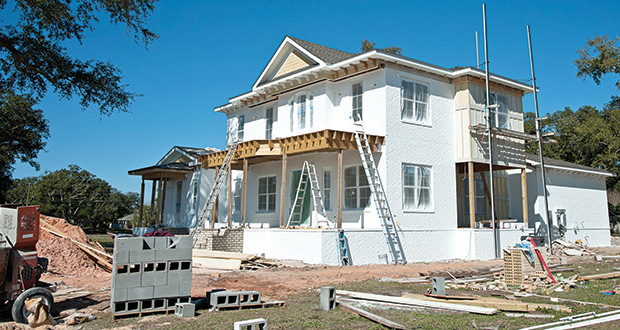 The Gulfport tax abatement district aids in spurring new construction starts