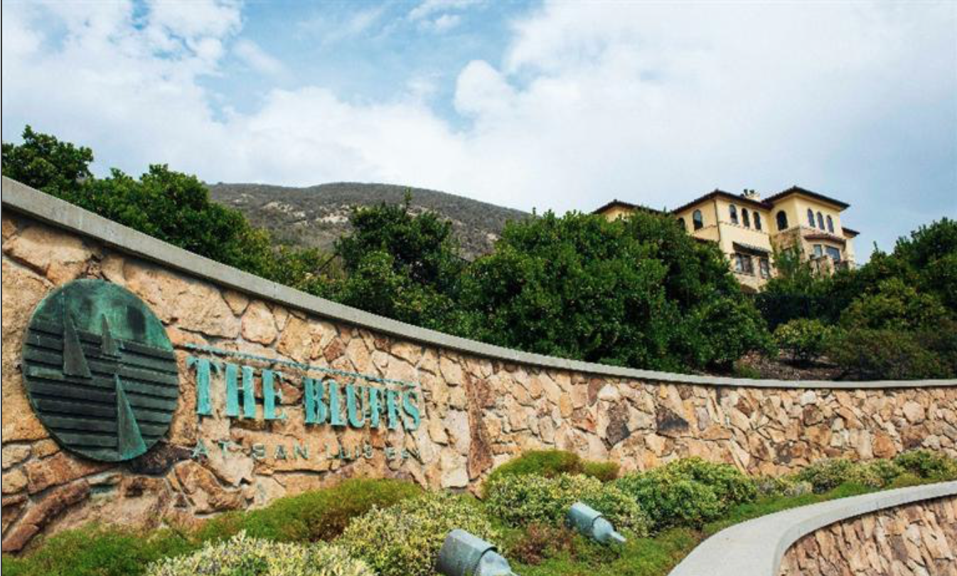 The Bluffs Gated community overlooking Shell Beach